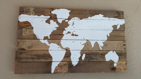 Wood Map Wall Art – Skulptura Art Regarding Wood Map Wall Art (Image 16 of 20)
