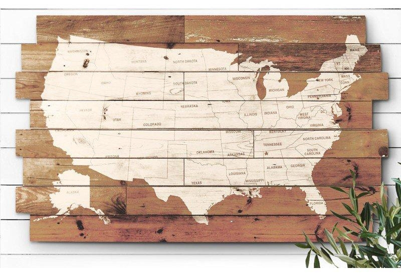 Wooden Usa Map Wall Art Mapwallart1 | Thempfa Throughout Wood Map Wall Art (Image 20 of 20)
