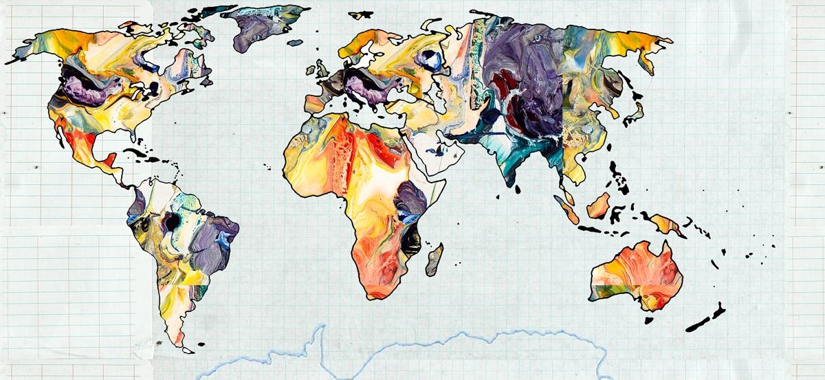 Wall Art Abstract World Map Wall Art 15 of 20 Photos : world map art gse bookbinder co with abstract world map wall art from gotohomerepair.com size 1200 x 553 jpeg 411kB
