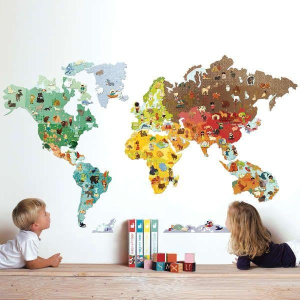 World Map Clipart Kids Room Throughout Kids World Map Wall Art (Image 18 of 20)