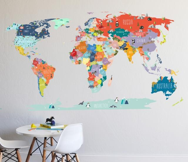 Featured Image of World Map Wall Art For Kids  sc 1 st  GotoHomeRepair.com & 20 Best Collection of World Map Wall Art for Kids | Wall Art Ideas