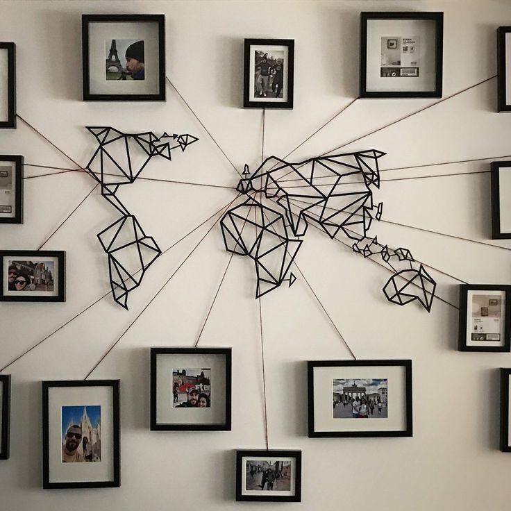 World Map Wall Art Best 25 World Map Wall Art Ideas On Pinterest With Regard To World Map Wall Art (View 8 of 20)