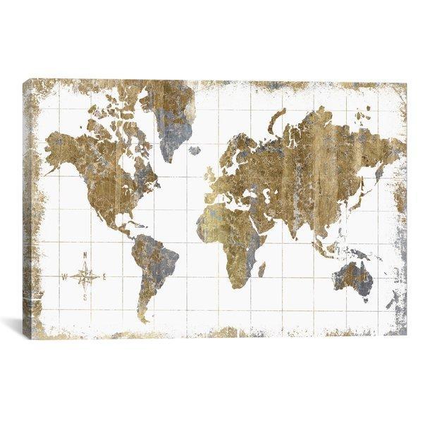 World Map Wall Art Pertaining To Worldmap Wall Art (Image 19 of 20)