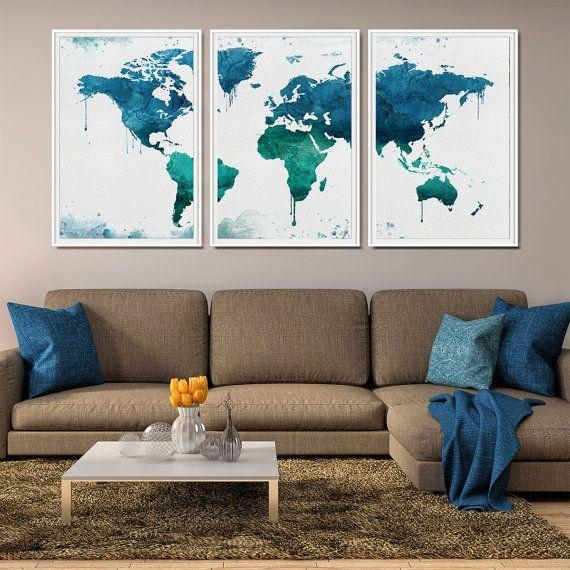 World Wall Art | Himalayantrexplorers Intended For Large World Map Wall Art (Image 20 of 20)