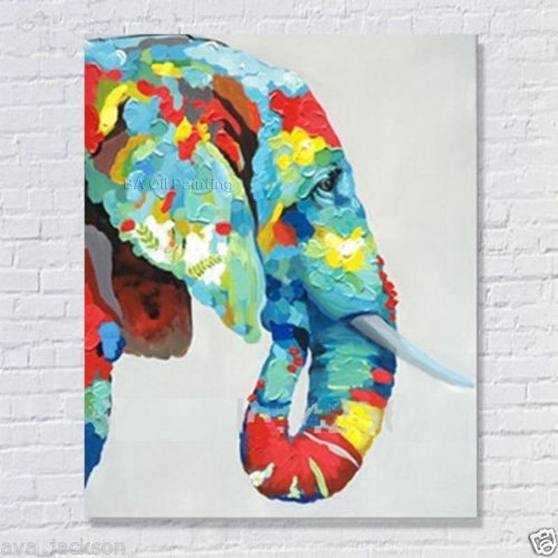 100% Handmade Decor Works High Quality Abstract Animal Modern Wall With Regard To Abstract Elephant Wall Art (View 5 of 20)