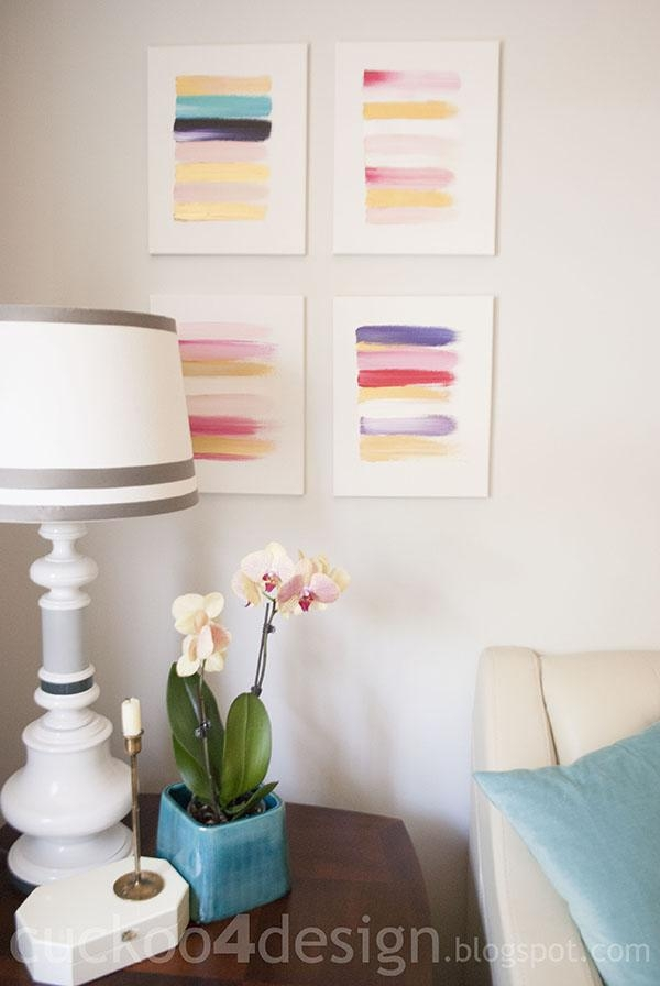 13 Creative Diy Abstract Wall Art Projects – Lolly Jane Intended For Diy Abstract Canvas Wall Art (Image 1 of 20)