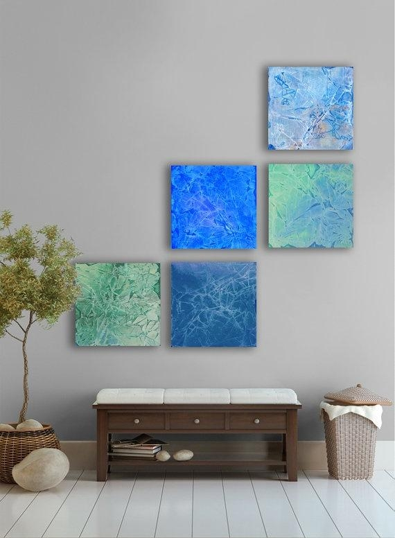 14 Best Tropical Wall Art For Cr Images On Pinterest | Palm Trees Pertaining To Dark Blue Abstract Wall Art (Image 2 of 20)
