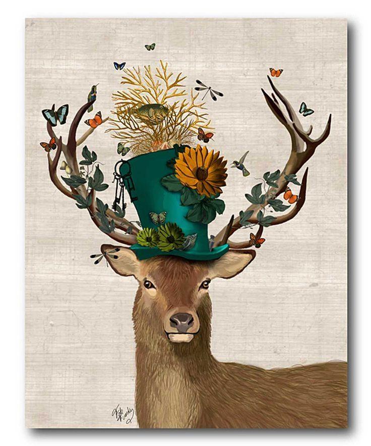 141 Best Ideas – Canvas/wall Art Images On Pinterest | Creative Inside Abstract Deer Wall Art (View 15 of 20)