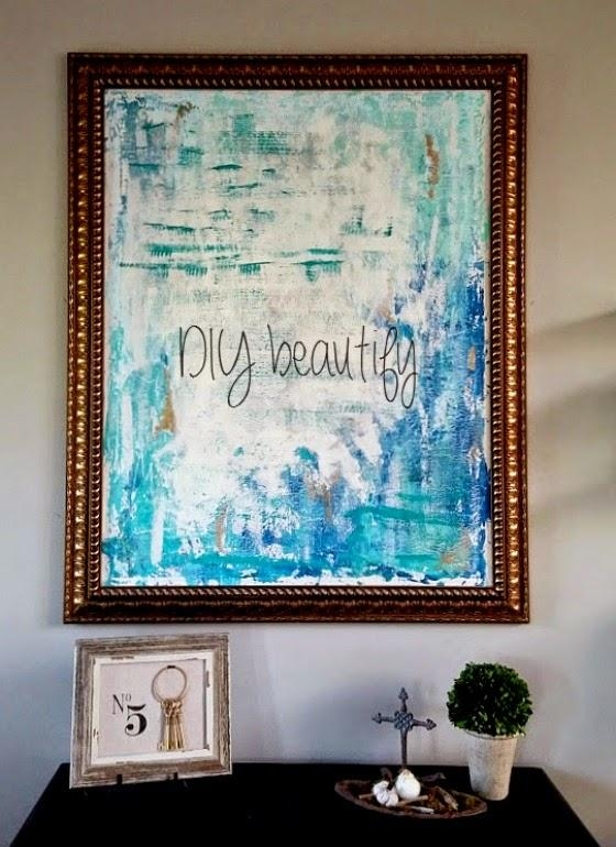 15 Easy Diy Wall Art Projects Regarding Diy Abstract Canvas Wall Art (View 18 of 20)