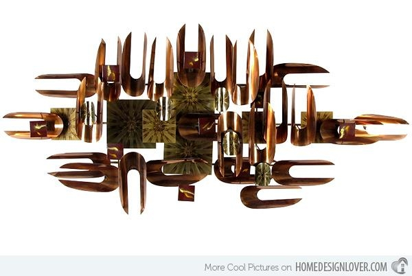 15 Modern And Contemporary Abstract Metal Wall Art Sculptures With Abstract Copper Wall Art (Image 1 of 20)