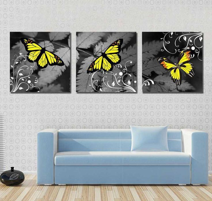 19 Best Tableaux Images On Pinterest | Butterflies, Abstract Art Inside Abstract Butterfly Wall Art (View 12 of 20)