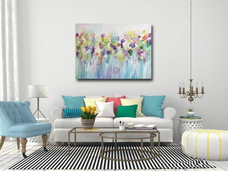 196 Best My Artwork Images On Pinterest | Abstract Canvas Intended For Abstract Floral Wall Art (Image 2 of 20)