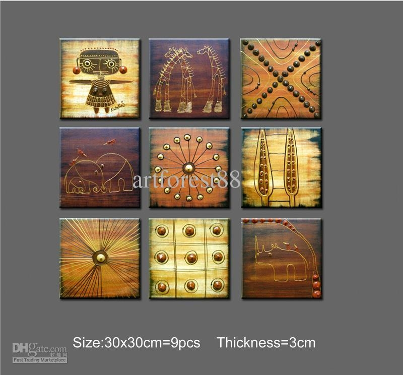 2018 Abstract Art African Wall Art For Sale Contemporary Large Intended For Abstract African Wall Art (Image 3 of 20)