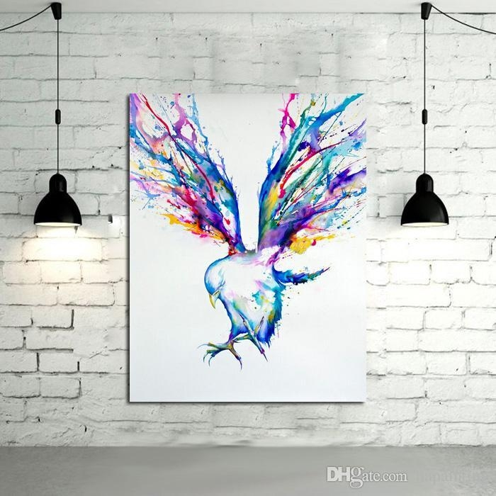 2018 Abstract Wall Art Handpainted Oil Painting Beautiful Flying Regarding Abstract Bird Wall Art (Image 1 of 20)