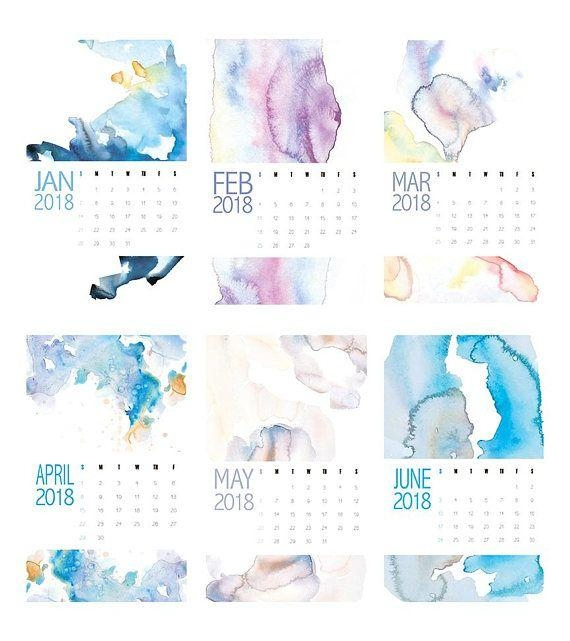 2018 Calendar, 2018 Wall Calendar, Large Wall Calendars, Abstract Pertaining To Abstract Calendar Art Wall (View 14 of 20)