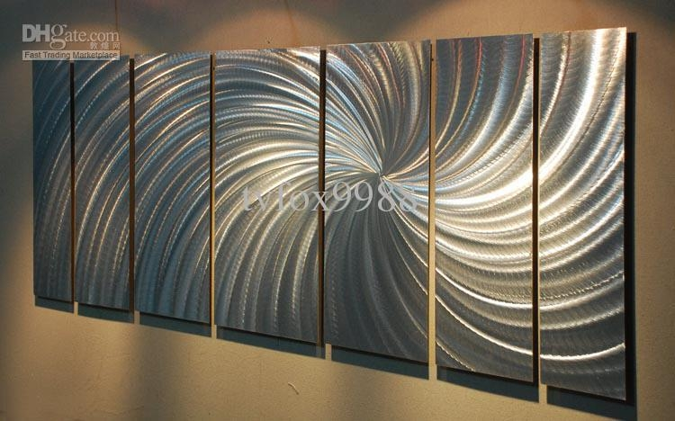 2018 Metal Modern Abstract Wall Art Painting Sculpture Decor From Throughout Aluminum Abstract Wall Art (Image 3 of 20)