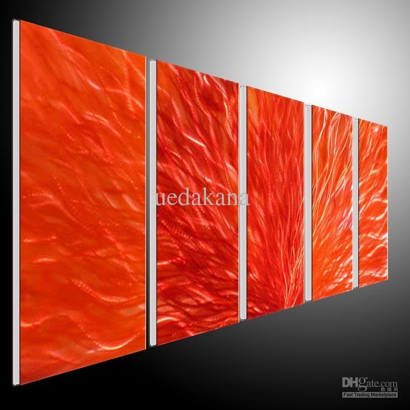 2018 Metal Wall Art Abstract Modern Seascape Contemporary Home Throughout Aluminum Abstract Wall Art (Image 5 of 20)