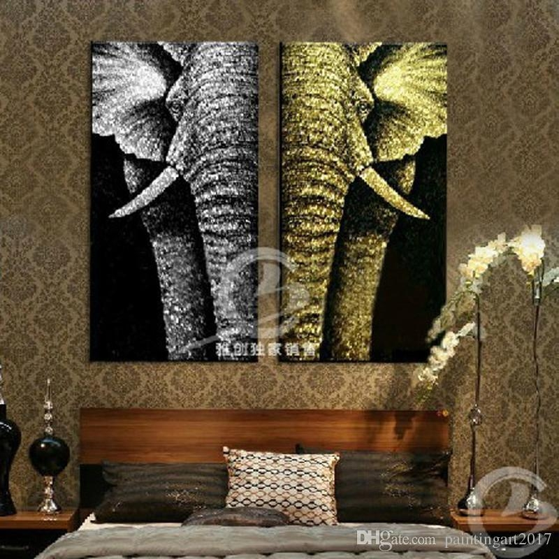 2018 Modern Abstract Fashion Oil Painting On Canvas For Home For Abstract Elephant Wall Art (Image 2 of 20)