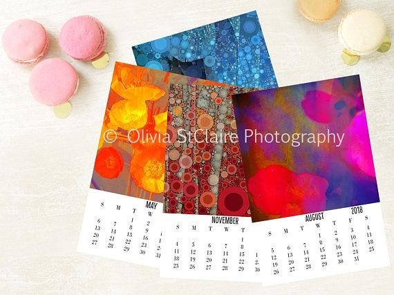 2018 Printable Calendar Abstract Art Wall Calendar New Regarding Abstract Calendar Art Wall (Image 5 of 20)