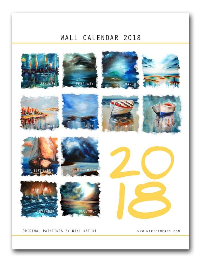 2018 Wall Art Calendar – Expressionist Abstract Paintingsniki With Regard To Abstract Calendar Art Wall (Image 6 of 20)