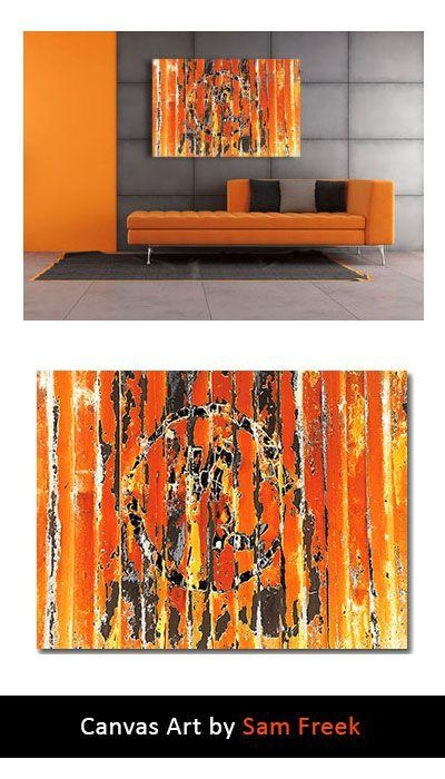 23 Best Orange Canvas Wall Art Images On Pinterest | Canvas Art In Limited Edition Wall Art (View 15 of 20)