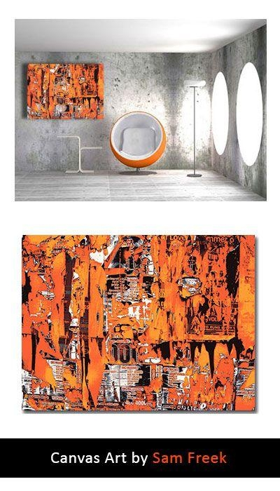 23 Best Orange Canvas Wall Art Images On Pinterest | Canvas Art Regarding Limited Edition Canvas Wall Art (View 8 of 20)