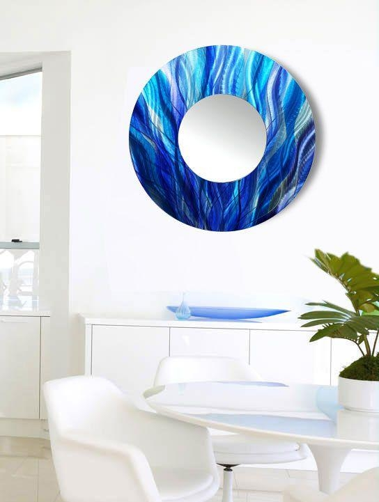 31 Best M O D E R N – M I R R O R S Images On Pinterest | Modern For Circle Bubble Wave Shaped Metal Abstract Wall Art (Image 1 of 20)