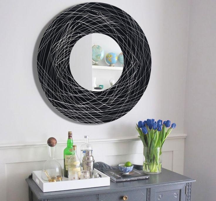 31 Best M O D E R N – M I R R O R S Images On Pinterest | Modern In Circle Bubble Wave Shaped Metal Abstract Wall Art (Image 2 of 20)