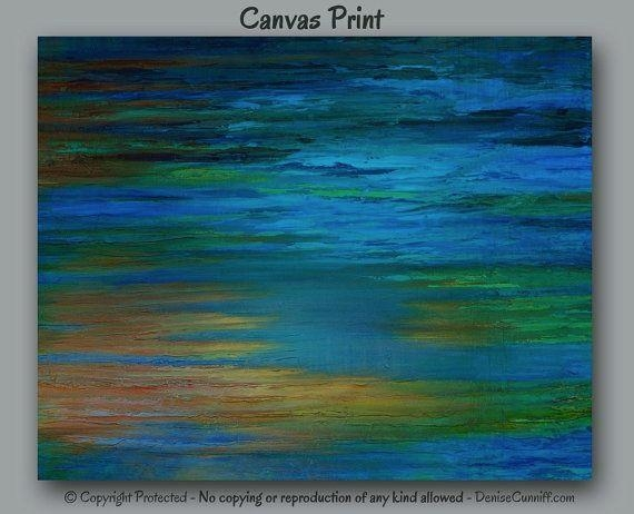 321 Best Art & Paintings – Abstract Art Images On Pinterest Inside Blue Green Abstract Wall Art (Image 1 of 20)