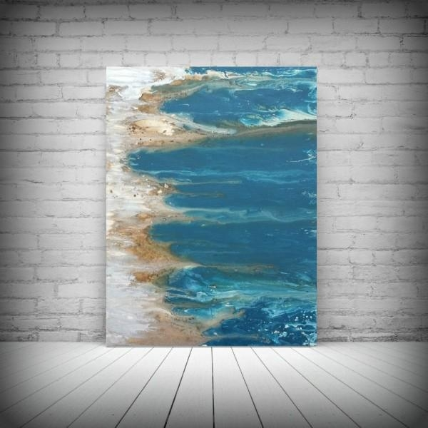 Featured Image of Abstract Beach Wall Art