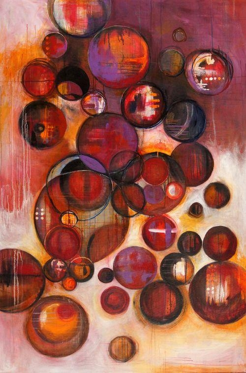 369 Best Abstract – Circles Images On Pinterest | Abstract Art In Abstract Circles Wall Art (Image 2 of 20)
