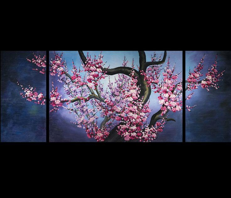 38 Best Cherry Blossom Paintings Images On Pinterest | Japanese Inside Abstract Cherry Blossom Wall Art (Photo 9 of 20)