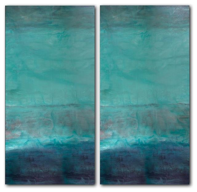 40 Wonderful Ideas Teal Canvas Wall Art | Panfan Site Pertaining To Abstract Beach Wall Art (Image 5 of 20)