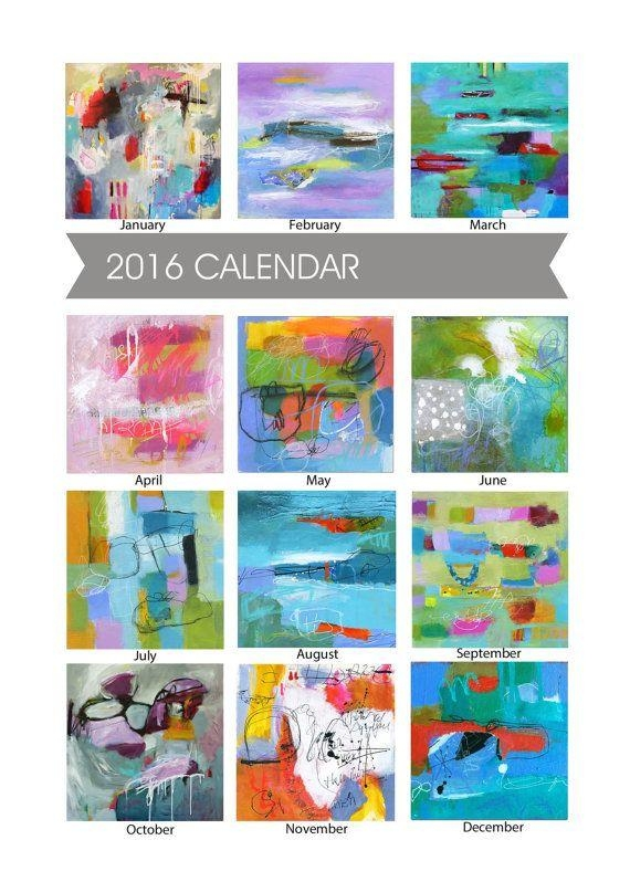 41 Best 이 Images On Pinterest | London, Paint And Flower Paintings With Regard To Abstract Calendar Art Wall (Image 8 of 20)