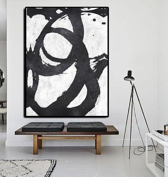 511 Best Black And White Abstract Paintings Images On Pinterest Intended For Black And White Abstract Wall Art (Image 3 of 20)
