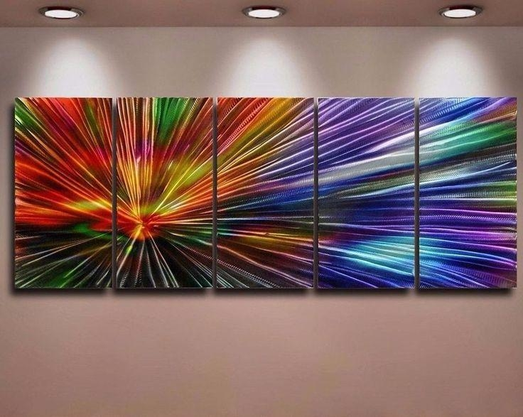 60 Best Modern Abstract Painting Metal Canvas Images On Pinterest Intended For Abstract Aluminium Wall Art (View 14 of 20)