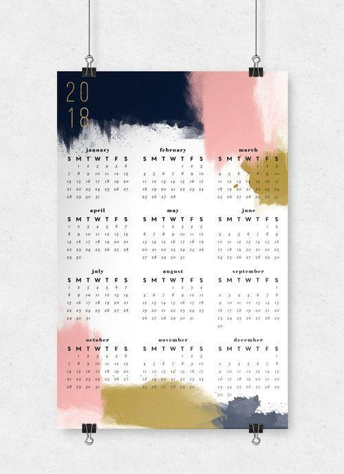 65 Best Wall Calendars 2018 Images On Pinterest | Calendar 2018 In Abstract Calendar Art Wall (Photo 13 of 20)