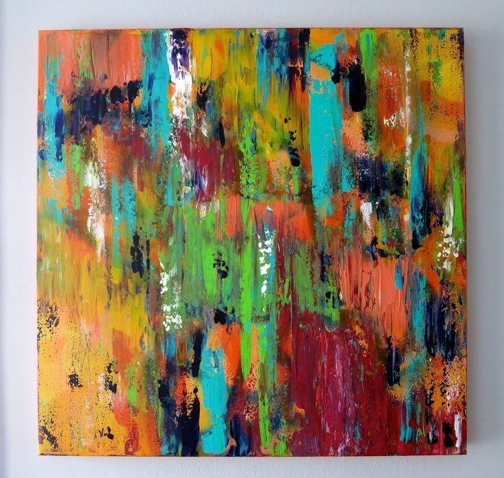 7 Best Abstract Art ✨ Marisa Newacheck Images On Pinterest Regarding Bright Abstract Wall Art (Image 7 of 20)