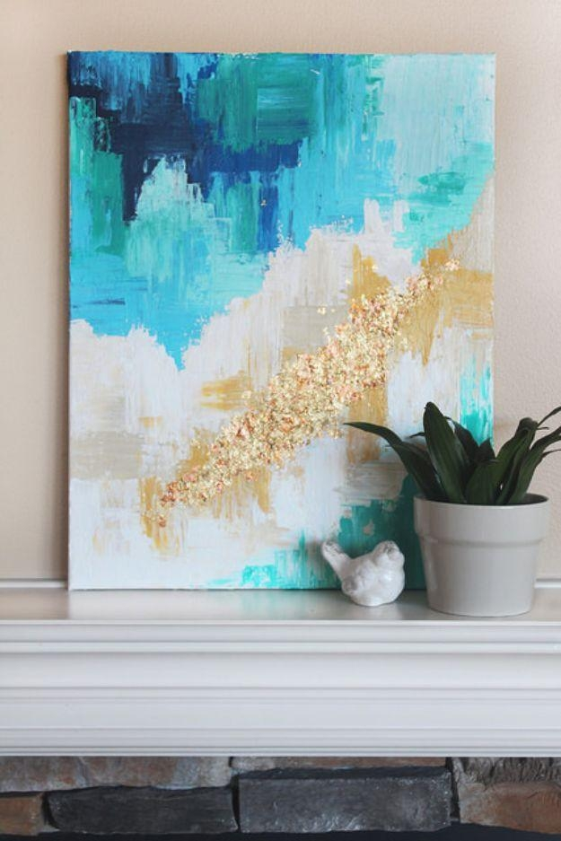 76 Brilliant Diy Wall Art Ideas For Your Blank Walls – Diy Joy Inside Abstract Fabric Wall Art (Photo 4 of 12)