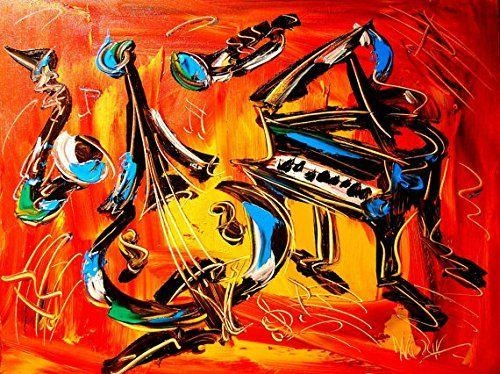 8 Best Jazz Images On Pinterest | Jazz Art, Paintings And Art With Abstract Musical Notes Piano Jazz Wall Artwork (Photo 14 of 20)
