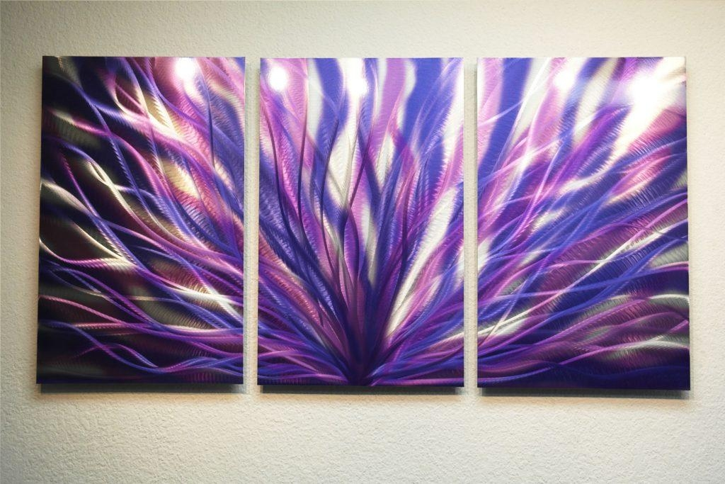 Absolutely Design Purple Metal Wall Art With Radiance 47 Abstract Regarding Dark Purple Abstract Wall Art (View 3 of 20)