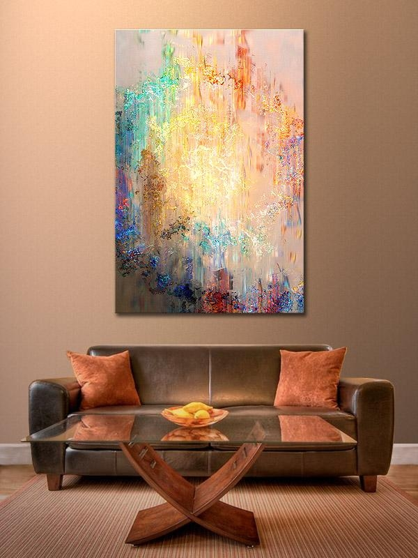 Abstract Art For Home With Frame Cartoon Oil Painting On Linen With Regard To Abstract Wall Art Prints (Image 4 of 20)