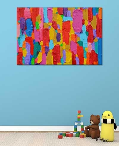 Abstract Art For Kids – Colourful Bold Wall Art Print | Art Pertaining To Bold Abstract Wall Art (Image 5 of 20)