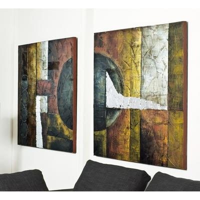Abstract Art Set Of Two – Dwell Within Dwell Abstract Wall Art (Image 2 of 20)