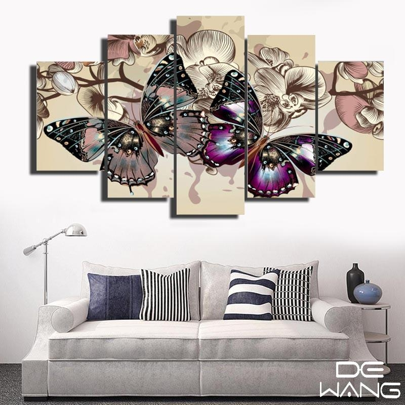 Abstract Butterfly Wall Canvas Art Painting – Canvas Store Throughout Abstract Butterfly Wall Art (View 6 of 20)