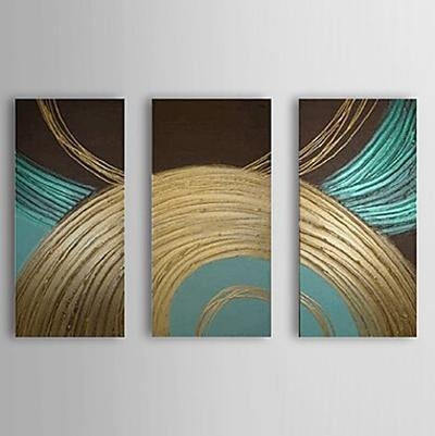 Abstract Circle  Modern Oil Painting Framed Wall Art Ready To Hang Inside Abstract Circles Wall Art (Image 3 of 20)