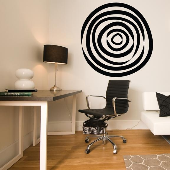 Abstract Circle Vinyl Wall Decal In Abstract Art Wall Decal (Image 4 of 20)