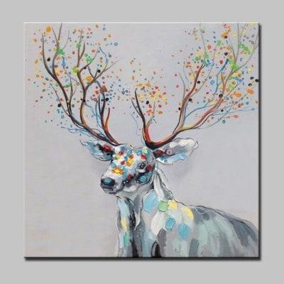 Abstract Deer Canvas Oil Painting Modern Art  $ (Image 5 of 20)