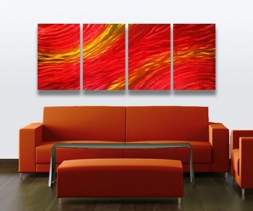 Abstract Metal Wall Art Sculpture Modern Decor Sunset | Milesshay In Abstract Metal Wall Art (Image 6 of 20)