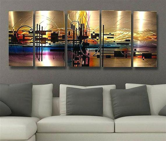 Abstract Metal Wall Decor Abstract Metal Wall Art Painting Techno Regarding Abstract Metal Wall Art (Image 8 of 20)